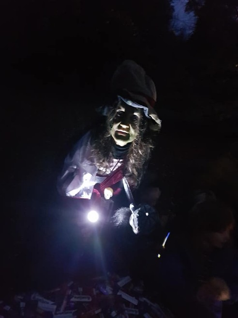 Halloween Ghost Walk Country Park and Lower Gardens Craig y Nos 2018