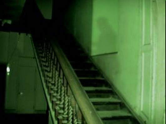 Ghostly Apparition on staircase at Most Haunted House in Wales Craig y Nos Castle