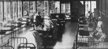 Craig y Nos Castle Conservatory as children's ward Adelina Patti Hospital era, 1940-50