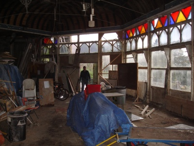 Conservatory at Craig y Nos Castle Haunted Hotel, Swansea Valley, Wales, before restoration 2006/7