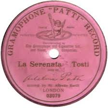 old gramophone Patti record in pink