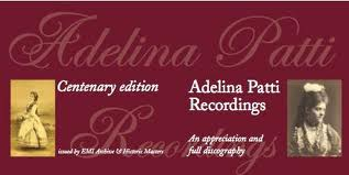Poster Centenary edition of Adelina Patti recordings.