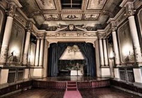haunted house theatre at Craig Nos Castle Swansea Valley South Wales