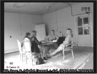 Ghost Hunters at a seance table in Haunted Castle Craig y Nos in Swansea, South Wales