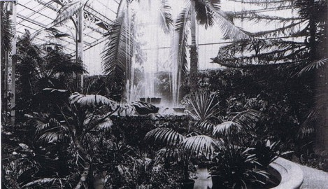Winter Gardens at Craig y Nos Caslte, Upper Swansea Valley, Powys, South Wales